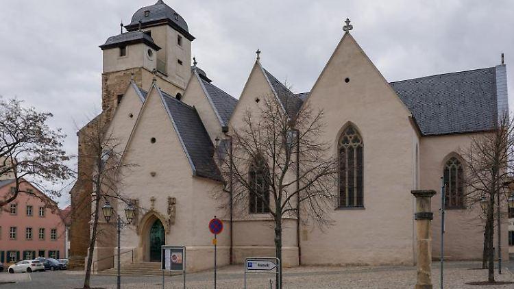 Die Michaeliskirche in Zeitz. Foto: Peter Endig/dpa/Archivbild