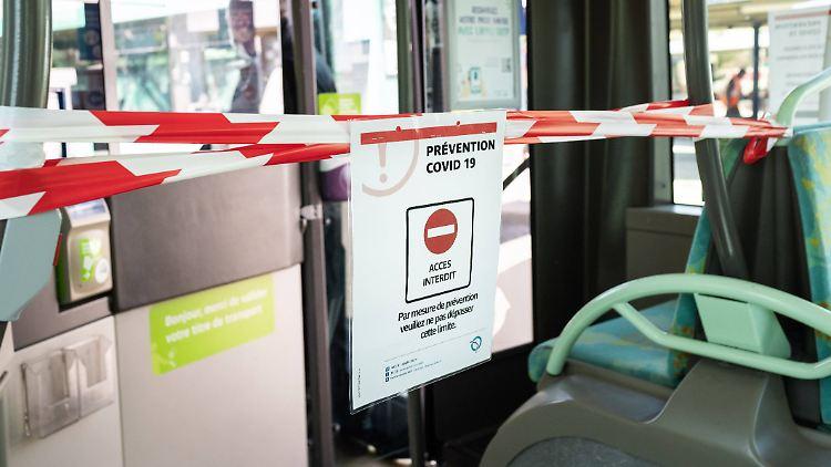 Auch in französischen Bussen herrscht Maskenpflicht.