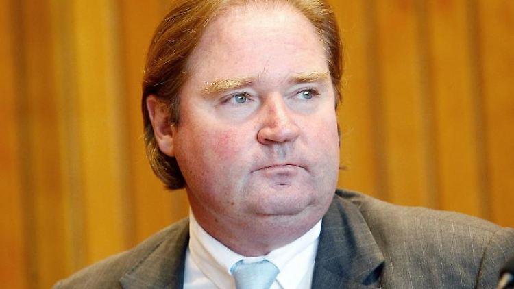 Finanzminister Lutz Lienenkämper (CDU) im Landtag. Foto: Roland Weihrauch/dpa