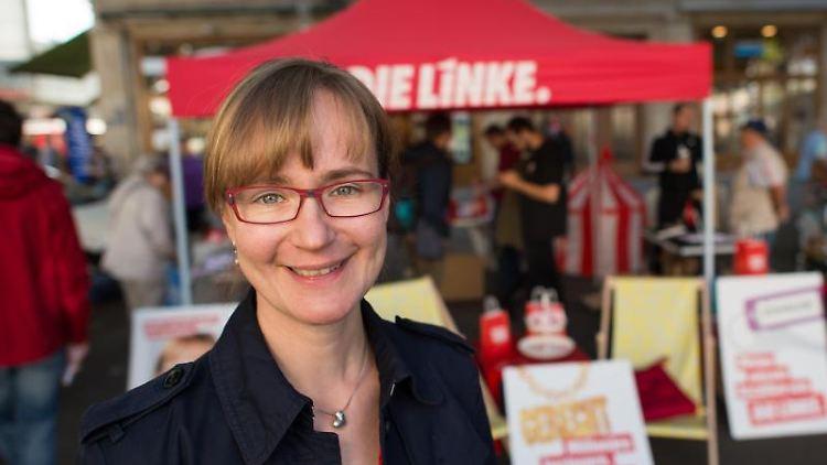 Vorgeschlagene Spitzenkadidatin Eva von Angern (Die Linke). Foto: Klaus-Dietmar Gabbert/dpa-Zentralbild/ZB/Archivbild
