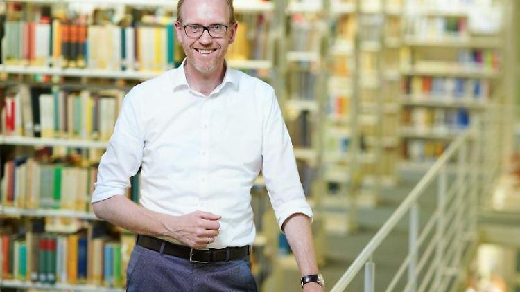Henning Lobin, der Direktor des Instituts für Deutsche Sprache in Mannheim. Foto: Uwe Anspach/dpa/Archivbild