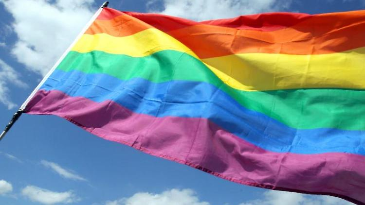 Die Regenbogenfahne. Foto: Wolfgang Kumm/dpa/Symbolbild