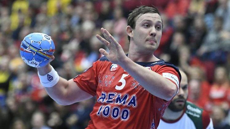 Sander Sagosen aus Norwegen in Aktion. Foto: Johan Nilsson/TT NEWS AGENCY/AP/dpa