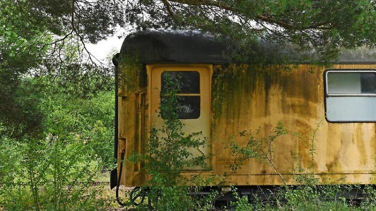 Auf einem Gleis steht ein alter Zugwaggon. Foto: Peter Zschunke/dpa/Archivbild