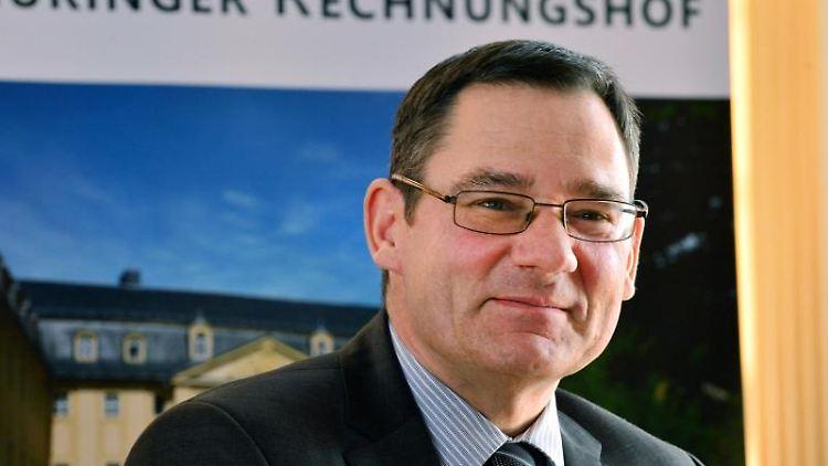 Thüringens Rechnungshofpräsident Sebastian Dette. Foto: Martin Schutt/dpa-Zentralbild/dpa/Archivbild