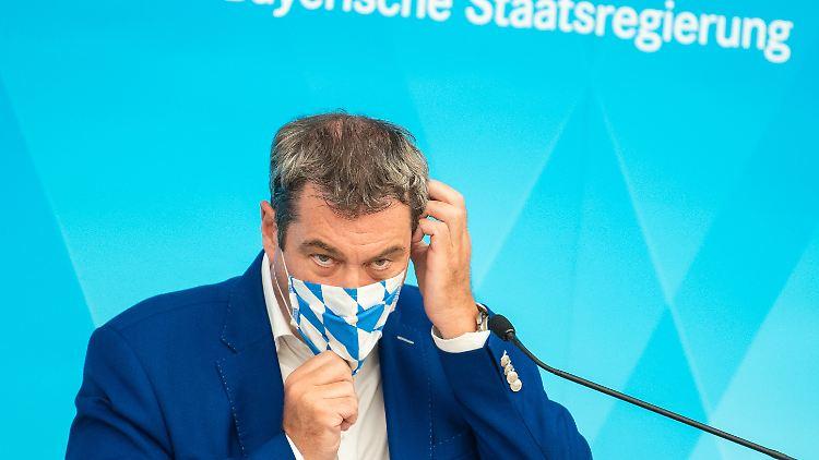 Markus Söder findet deutliche Worte zu weiteren Lockerungen der Corona-Einschränkungen.