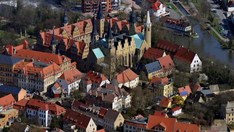 Blick auf die Innenstadt von Merseburg und den Merseburger Dom. Foto: Hendrik Schmidt/dpa-Zentralbild/dpa