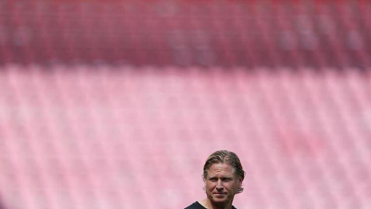 Kölns Trainer Markus Gisdol. Foto: Lars Baron/Getty/Pool/dpa/Archivbild