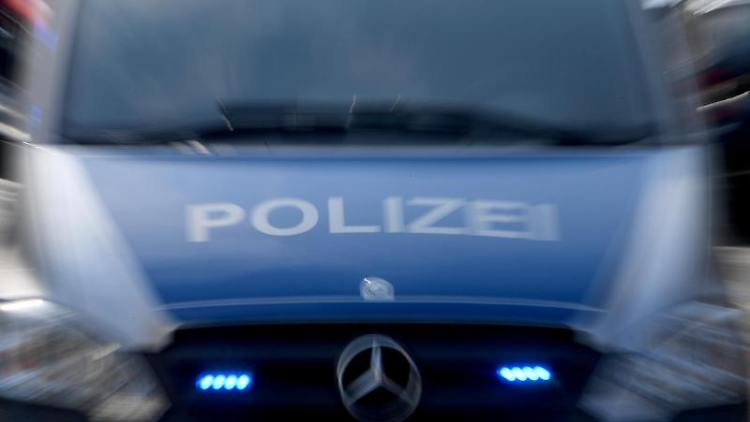 Ein Polizeiwagen mit eingeschaltetem Blaulicht. Foto: Carsten Rehder/dpa