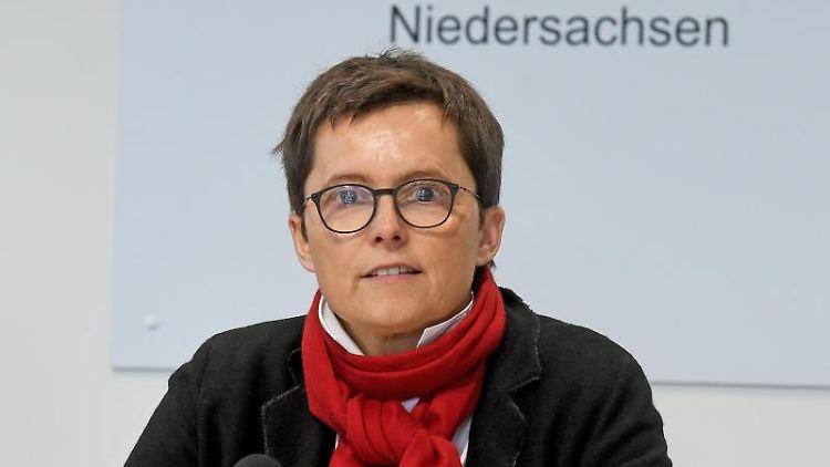 Anke Pörksen, Regierungssprecherin von Niedersachsen. Foto: Holger Hollemann/dpa/Archivbild