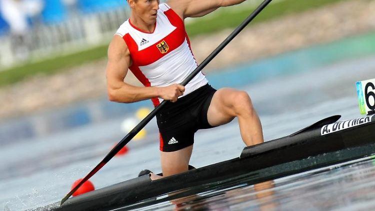 Andreas Dittmer während der Olympischen Spiele in Peking im Jahr 2008. Foto: Jens Buettner/dpa-Zentralbild/dpa/Archivbild