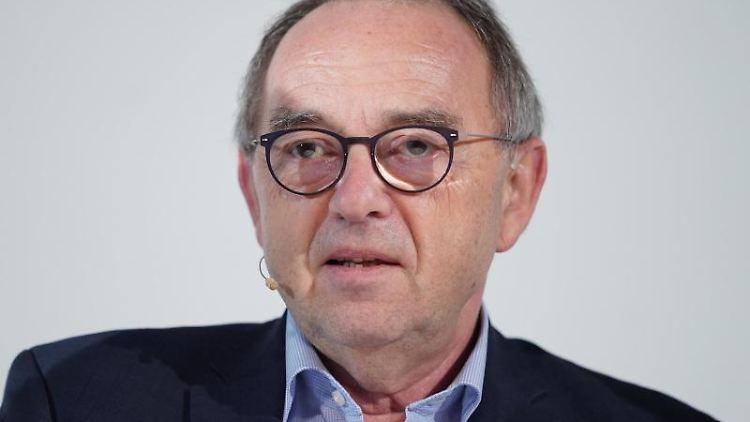 SPD-Vorsitzender Norbert Walter-Borjans spricht bei einer dpa-Chefredaktionskonferenz. Foto: Kay Nietfeld/dpa/Archivbild