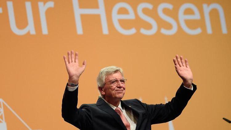 Volker Bouffier, Ministerpräsident und CDU-Landesvorsitzender in CDU Hessen. Foto: Swen Pförtner/dpa