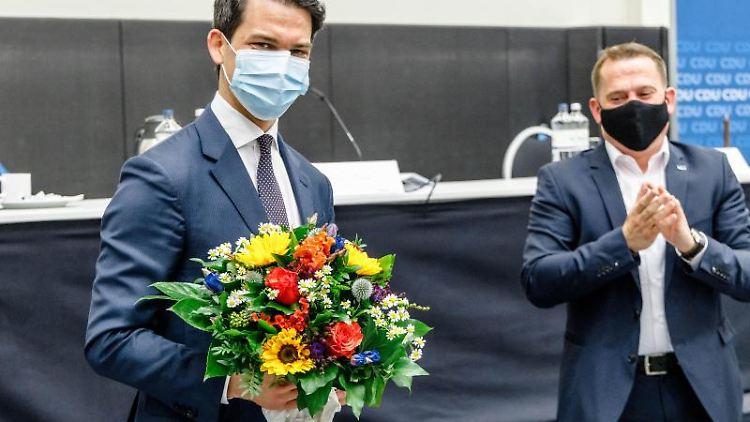 Der frisch gewählte neue Landesvorsitzende der CDU Hamburg, Christoph Ploß. Foto: Markus Scholz/dpa