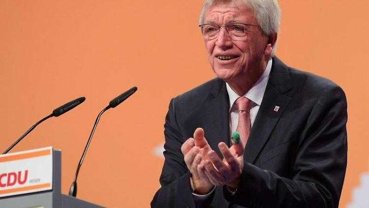 Volker Bouffier, der CDU-Landesvorsitzende und Ministerpräsident in Hessen. Foto: Swen Pförtner/dpa