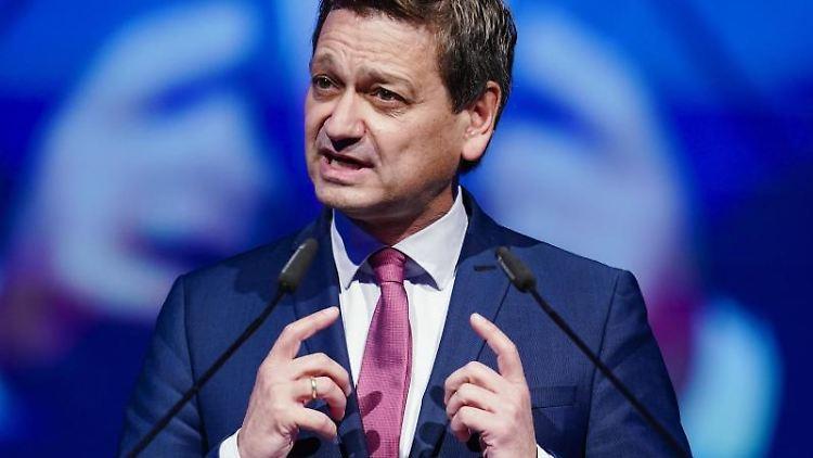 CDU-Spitzenkandidat und Landtagsfraktionschef Christian Baldauf spricht bei einem Landesparteitag. Foto: Uwe Anspach/dpa/Archivbild