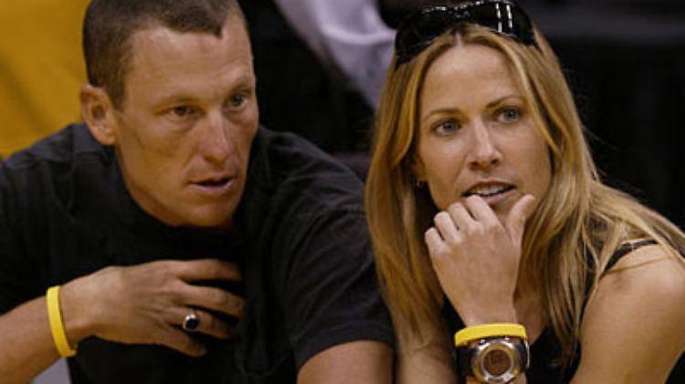 ... das Ex-Paar Lance Armstrong und Sheryl Crow beim Fremd-Sporteln, ...