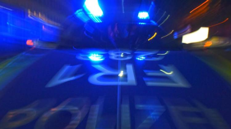 Ein Polizeifahrzeug steht mit Blaulicht auf der Straße. Foto: Patrick Seeger/dpa/Symbolbild