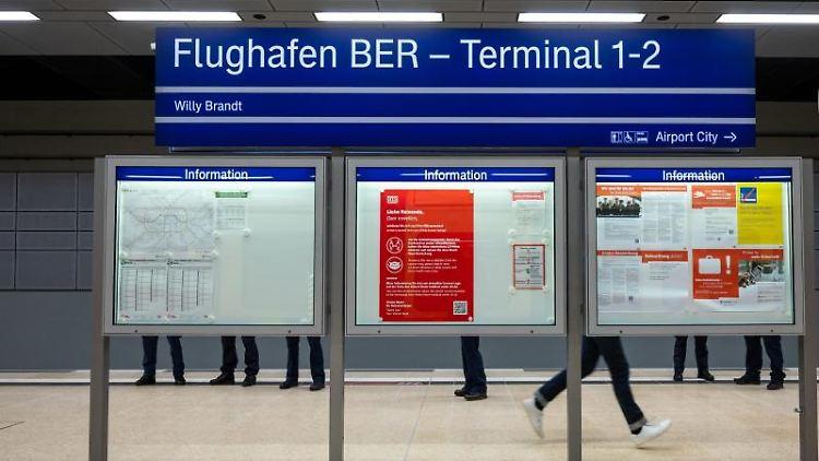 Der S-Bahnhof des neuen Flughafens Berlin Brandenburg (BER). Foto: Christophe Gateau/dpa