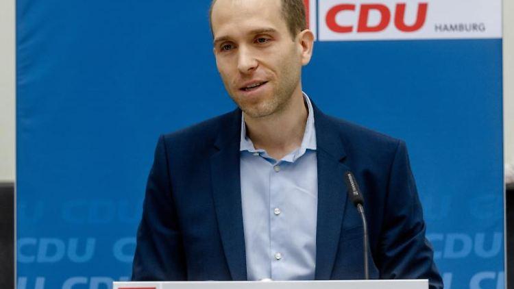 Dennis Thering (CDU), Fraktionsvorsitzender in der Bürgerschaft. Foto: Markus Scholz/dpa/Archivbild