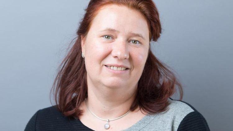 Kathleen Kuhfuß (Grüne), Abgeordnete im sächsischen Landtag. Foto: Sebastian Kahnert/dpa-Zentralbild/ZB/Archivbild