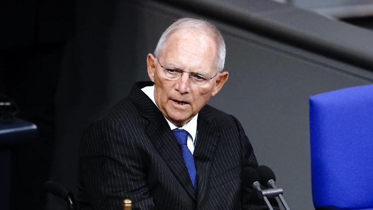 Wolfgang Schäuble (CDU) im Bundestag. Foto: Kay Nietfeld/dpa/Archivbild