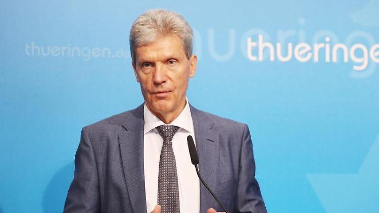 Helmut Holter (Linke), Bildungsminister in Thüringen. Foto: Bodo Schackow/dpa-Zentralbild/dpa/Archivbild