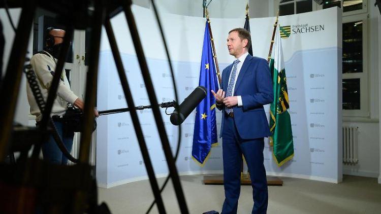 Michael Kretschmer (CDU), Ministerpräsident von Sachsen. Foto: Sebastian Kahnert/dpa-Zentralbild/dpa/Archivbild