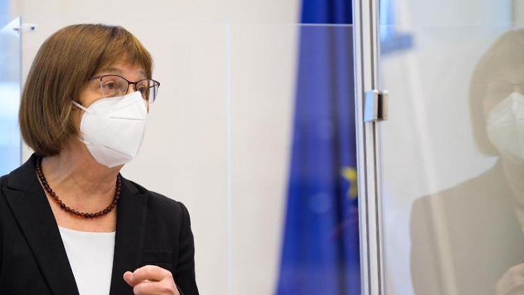 Brandenburgs Gesundheitsministerin Ursula Nonnemacher. Foto: Soeren Stache/dpa-Zentralbild/ZB