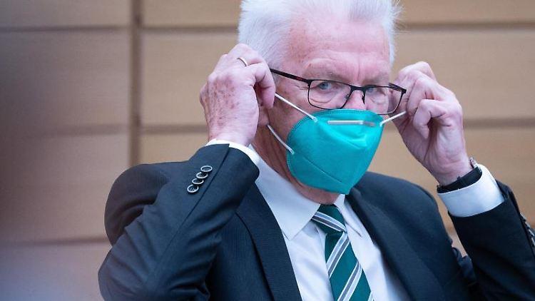 Winfried Kretschmann (Bündnis 90/Die Grünen), Ministerpräsident von Baden-Württemberg. Foto: Sebastian Gollnow/dpa/Archivbild