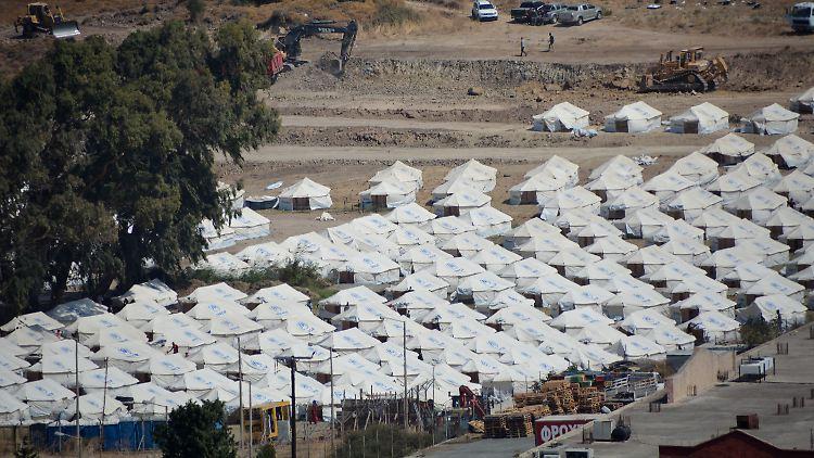 Provisorisches Zeltlager Kara Tepe auf griechischer Insel Lesbos