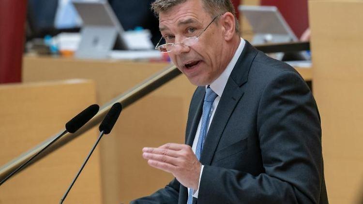 Der AfD-Abgeordnete Richard Graupner im bayerischen Landtag. Foto: Peter Kneffel/dpa/Archivbild