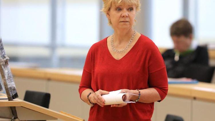 Cornelia Lüddemann, Fraktionsvorsitzende von Sachsen-Anhalts Bündnis 90/Die Grünen. Foto: Peter Gercke/dpa-Zentralbild/dpa/Archivbild