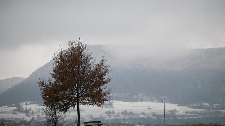 Schnee liegt in einem Tal auf der Schwäbischen Alb. Foto: Sebastian Gollnow/dpa