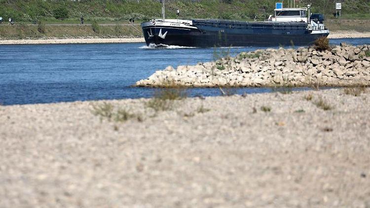 Rhein Niedrigwasser 2021