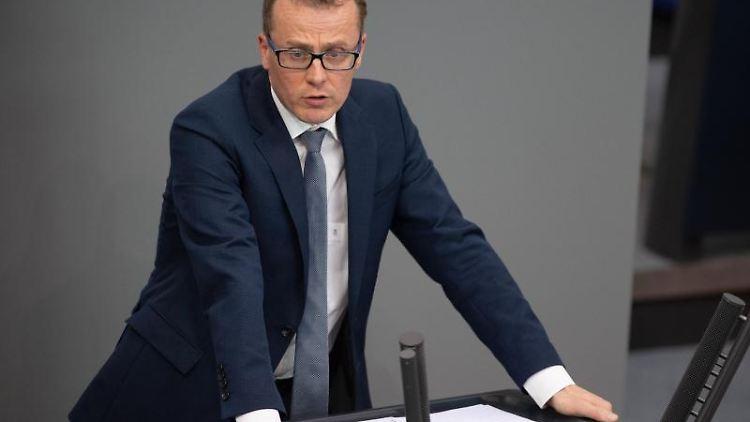 Alexander Krauß (CDU) spricht in der Plenarsitzung im Deutschen Bundestag. Foto: Christophe Gateau/dpa