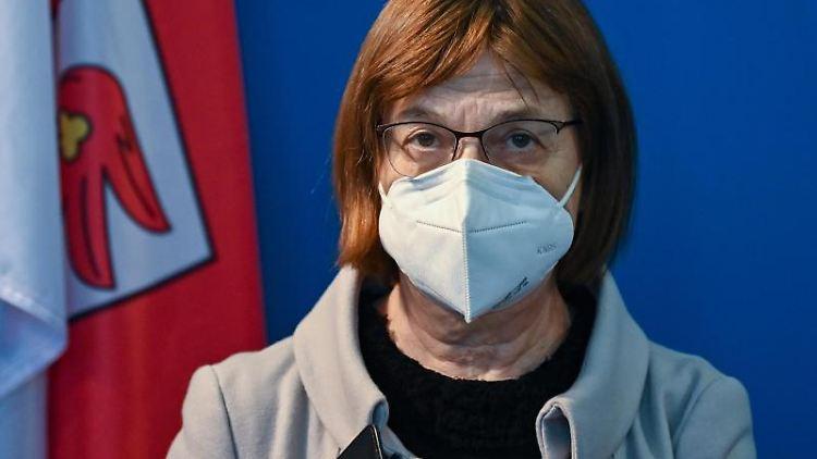 Ursula Nonnemacher (Bündnis 90/Die Grünen) nimmt an einem Pressetermin teil. Foto: Patrick Pleul/dpa-Zentralbild/dpa/Archivbild