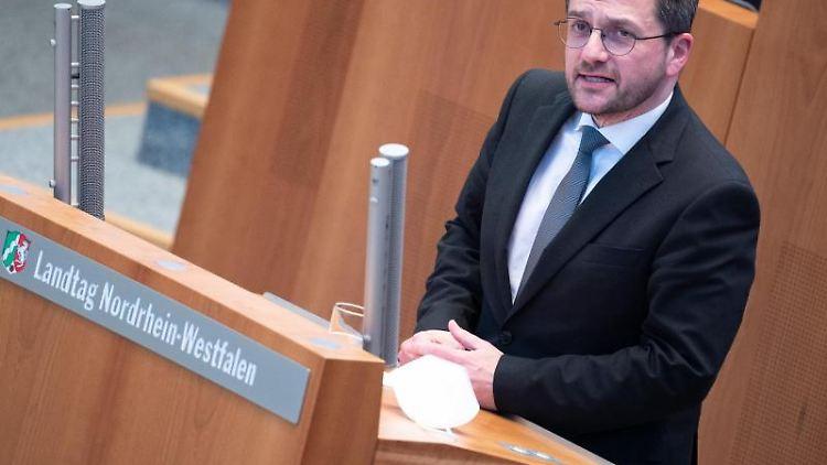 Thomas Kutschaty, SPD-Fraktionsvorsitzender. Foto: Federico Gambarini/dpa/Archivbild