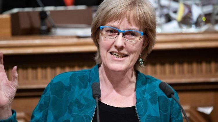 Heike Sudmann, wohnungspolitische Sprecherin der Linken in der Hamburgischen Bürgerschaft. Foto: Daniel Reinhardt/dpa/Archivbild