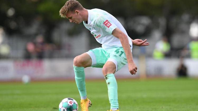 Werder Bremens Nick Woltemade am Ball. Foto: Carmen Jaspersen/dpa