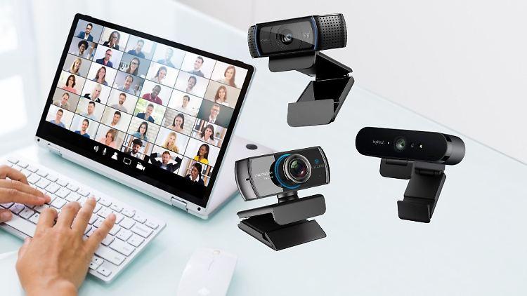 Externe Webcams haben oft eine bessere Auflösung als Laptop- oder Tablet-Kameras.