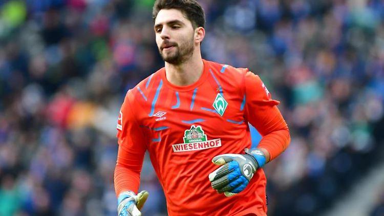 Torhüter Stefanos Kapino vom SV Werder Bremen. Foto: Soeren Stache/dpa-Zentralbild/dpa/Archivbild