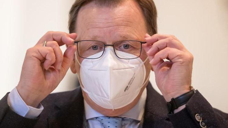 Bodo Ramelow (Linke), Thüringens Ministerpräsident. Foto: Michael Reichel/dpa