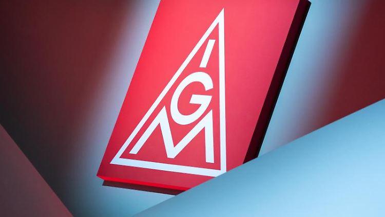 Das IG Metall-Logo. Foto: Daniel Karmann/dpa/Symbolbild/Archiv