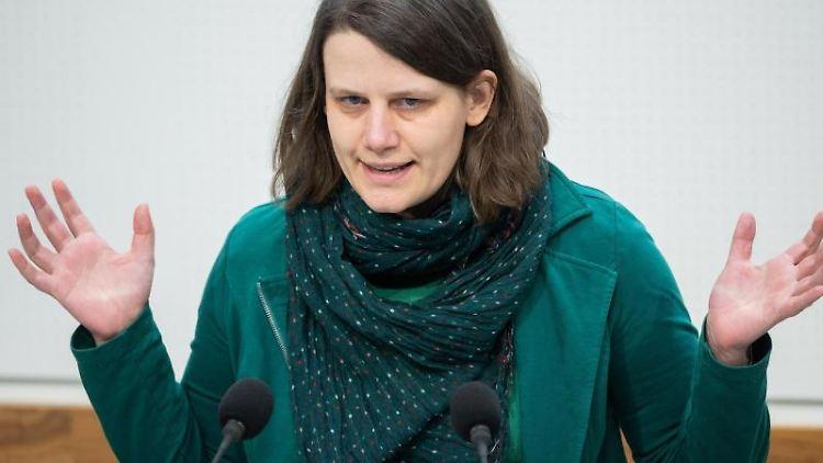 Niedersachsens Fraktionsvorsitzende Julia Willie Hamburg (Grüne). Foto: Julian Stratenschulte/dpa