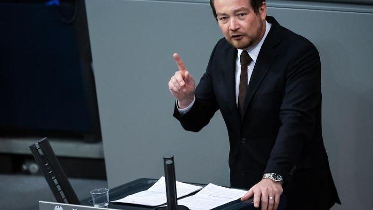 Uli Grötsch (SPD) spricht imDeutschen Bundestag. Foto: Bernd von Jutrczenka/dpa/Archivbild