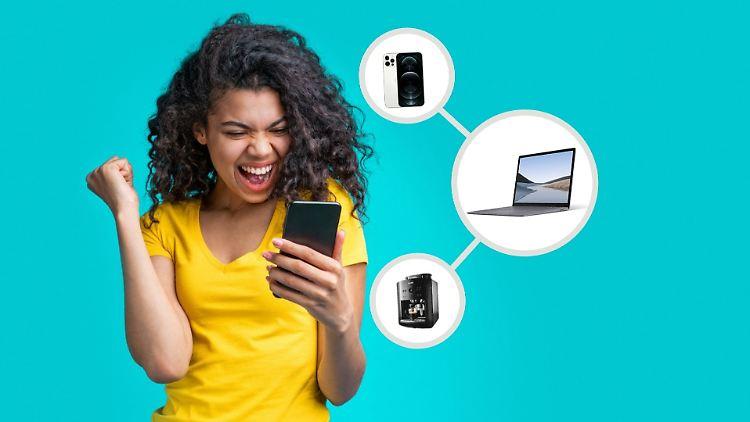 Zu den Technik-Schnäppchen der Woche gehört ein iPhone, aber auch ein Surface-Laptop ist günstiger.