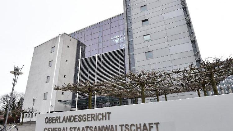 Das Gebäude des Oberlandesgerichtes. Foto: picture alliance / Caroline Seidel/dpa/Archivbild