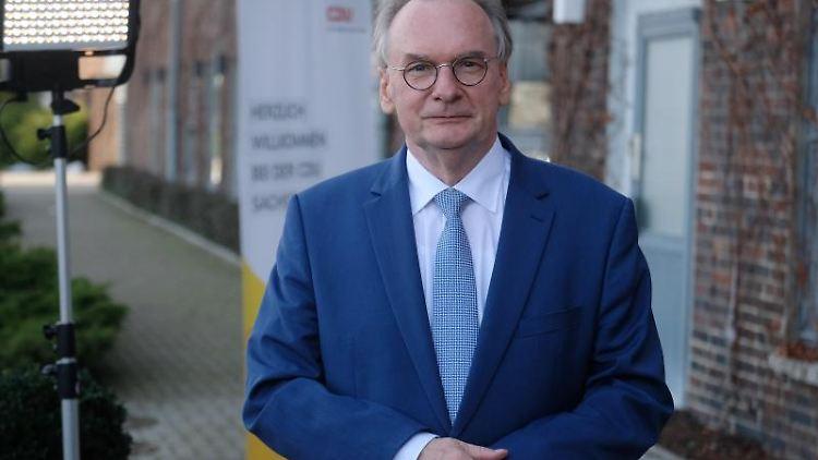 Reiner Haseloff (CDU), Ministerpräsident von Sachsen-Anhalt. Foto: Sebastian Willnow/dpa-Zentralbild/dpa/Archivbild