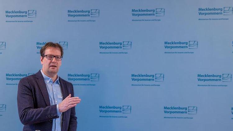 Torsten Renz (CDU), der Innenminister von Mecklenburg-Vorpommern. Foto: Jens Büttner/dpa-Zentralbild/ZB/Archivbild